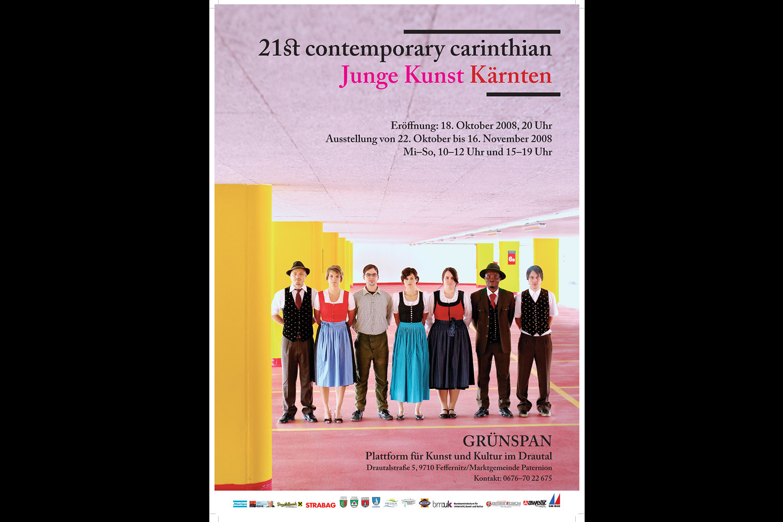 """Plakatfotografie für Grünspan (Plattform von Kunst und Kultur im Drautal) für """"21st contemporary carinthian - Junge Kunst Kärnten"""""""