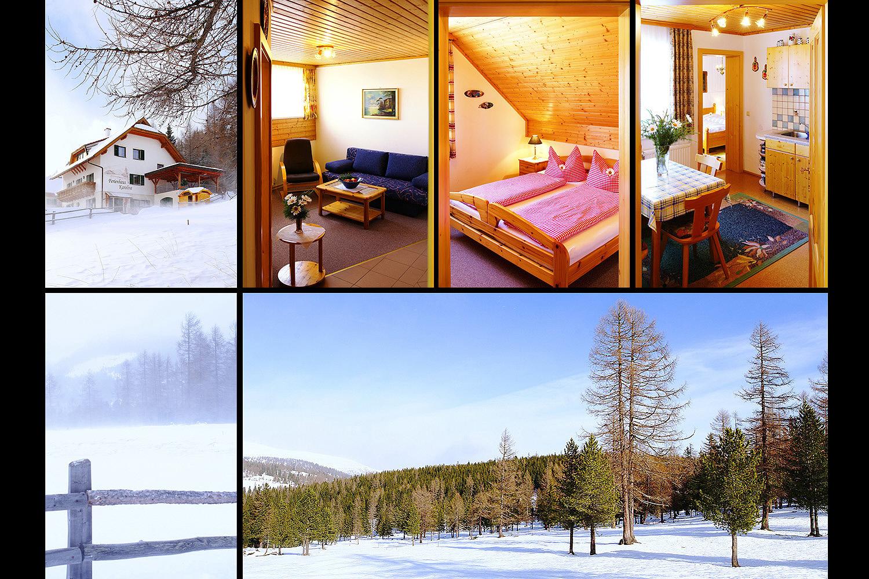 Winter ums Ferienhaus Karoline am Hochrindl in Kärnten