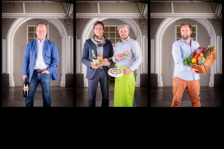 v.l.n.r.: Slow Food Wien, Schlumberger Sekt, Wiener Schnecke (Andreas Gugumuck), Biohof Adamah